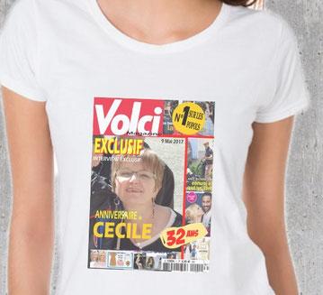 tshirt photo personnalisée