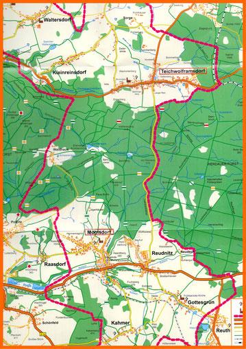 Der Gemeindeverband umfasst ein großes,waldreiches Gebiet