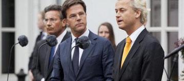 Mark Rutte e Geert Wilders