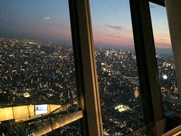 東京の夜景の始まりです(*^_^*)