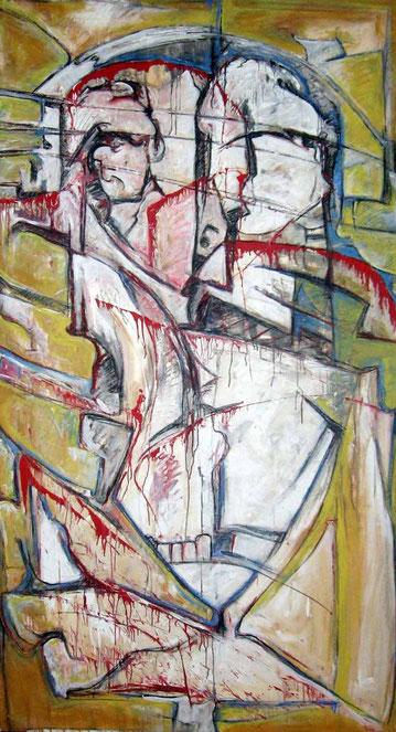 Filzed - acrylique sur toile - 197x105