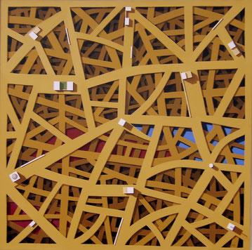 Ebenen der Geschichte, 2009, 120/120 cm, Acryl auf Leinwand