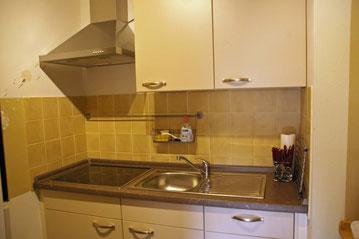 neue Küche rechte Seite mit Cerankochfeld und Geschirrspüler
