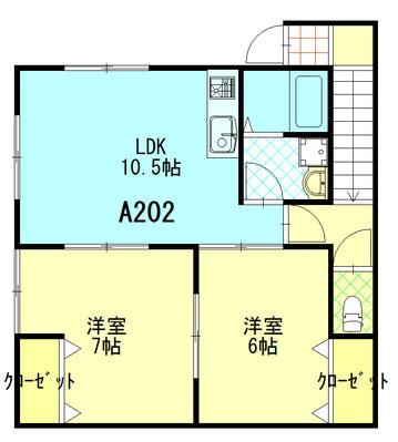 ファミーユ成島 A202 間取図 ※間取り図は現況優先とします。