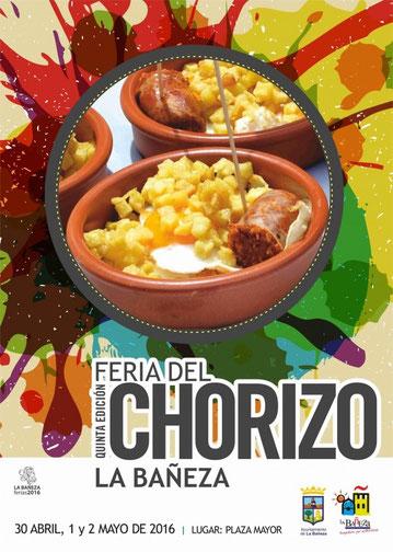 Feria del Chorizo en La Bañeza Cartel y programa