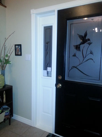 My own black entryway door