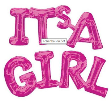 Ballon Luftballon Schriftzug Phrase Its a Boy Girl Junge Mädchen blau pink silber Versand Überraschung Deko Wanddeko Foto Fotoshooting Baby Geburt Mitbringsel