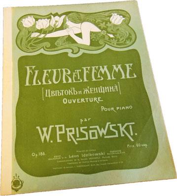 Цветок и женщина, Василий Присовский, нотная обложка