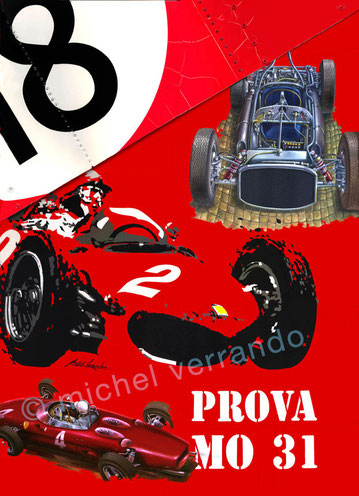 art automobile von trips phil hill automotive art f1 painting art automobile ferrari 156 grand prix monaco art automobile