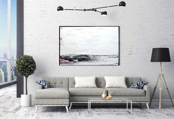 weißes abstraktes bild kunst malerei
