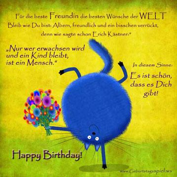 Geburtstagswünsche für die Freundin