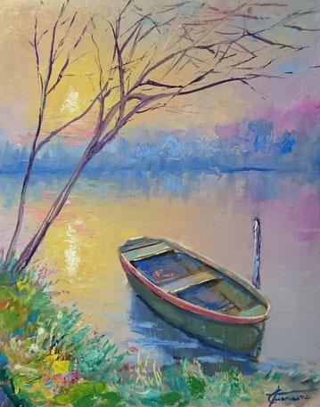 Painter impressionist modern Giuseppe Faraone