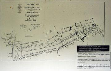 Plan des Dorfes Douaumont