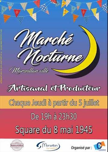 Marché Nocturne Marseillan-Ville