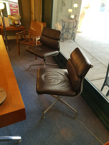 Charles et Ray Eames Fauteuils Soft pad édition Herman Miller circa 1960