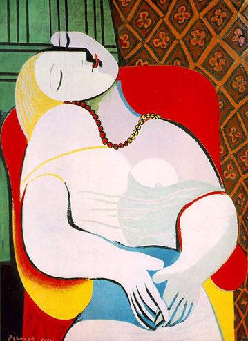 'El sueño' - Pablo Picasso (Etapa surrealista).