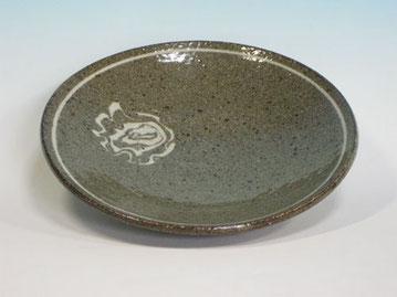 萩練込皿 (径25cmX高さ5cm)