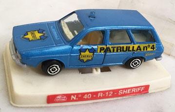Sobre la base del Renault 12 TS familiar se crearán a partir de 1984 las versiones patrulla sheriff  y policía de tráfico