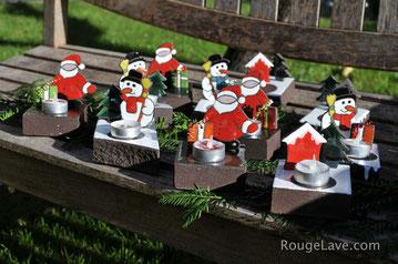 décoration de Noël pour le sapin en lave émaillée émaux sur lave