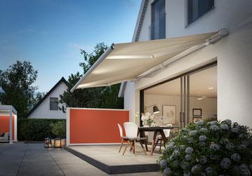 markilux Markise 6000 pink mit LED Spots fink markisen sonnenschutz Großostheim