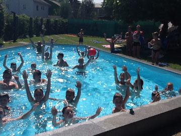 generalsaniertes Schwimmbad des ATSV Steyr Tennis