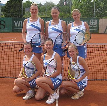 2. Damenbundesliga 2011 - Platz 5: (hi. v. li.) Andrea Rosenegger, Nikola Vajdova, Marion Walter, (vo. v. li.) Sarah Wieser, Ingrid Gergel, Anna Götz
