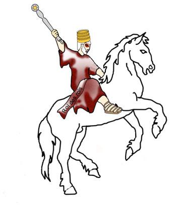 Un cheval blanc, symbole de guerre juste, est apparu dans le ciel. Son cavalier a les yeux comme une flamme de feu, il porte de nombreuses couronnes sur sa tête. Il s'appelle « Fidèle et Véritable» et «Parole de Dieu». Il s'agit de Jésus-Christ notre Roi.