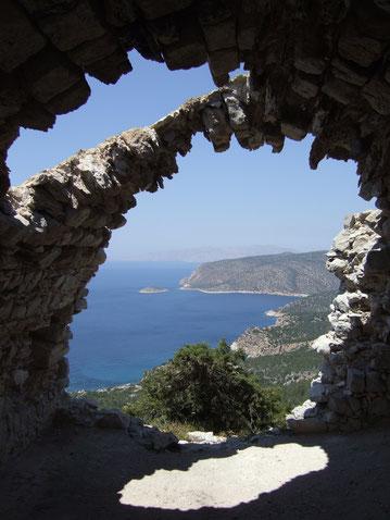 Westküste - Blick vom Kastell Monolithos