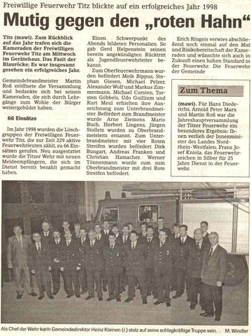 Jülicher Zeitung vom 24.12.1998