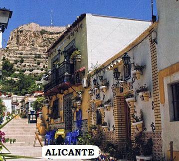 Barrio de Santa Cruz de la Ciudad de  Alicante (Comunidad Valenciana)