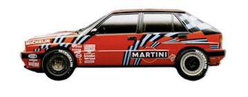 lancia delta 16v rossa integrale grafica completa sponsor martini 1989 sanremo pubblimais