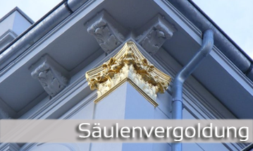 Säulenvergoldung
