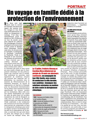 Article Vincennes One Climate One Challenge GHEUNG MEZA