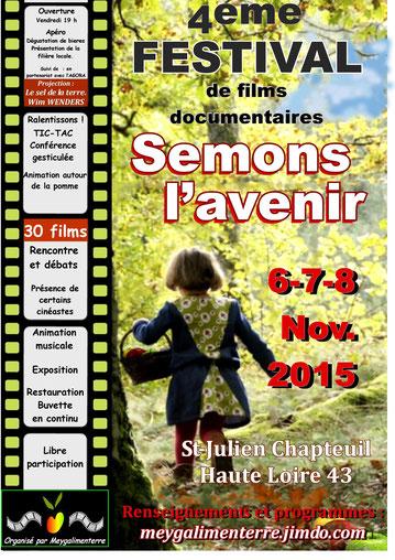 Festival semons L'avenir novembre 2015