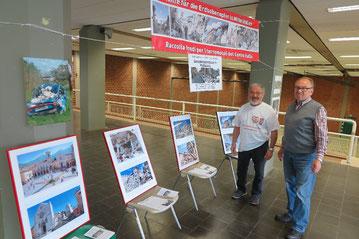 Rocco Artale (links) und Franco Miranda präsentieren die Ausstellung