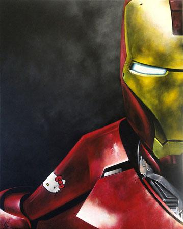 """""""Iron Kitty"""", 2017, acrylic on canvas, 80x100"""