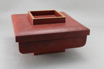 木製フタ付きの盛器修理