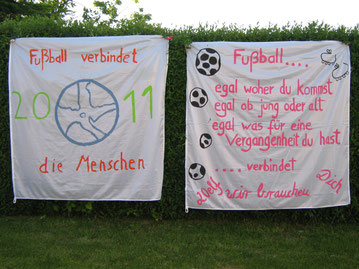 Unsere selber gestalteten und Eingereichten WM Fahnen