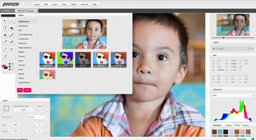 Picozu is a light photoshop look like with some nice advanced tools