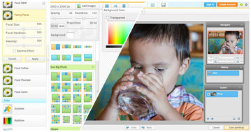 iPiccy is a full photo editing suite with a lot of tools and options