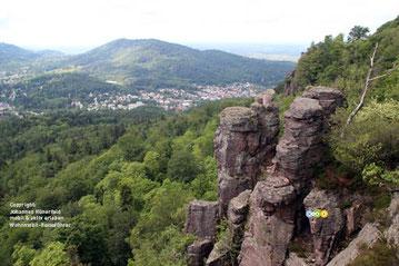Wandern am Battert oberhalb von Baden-Baden