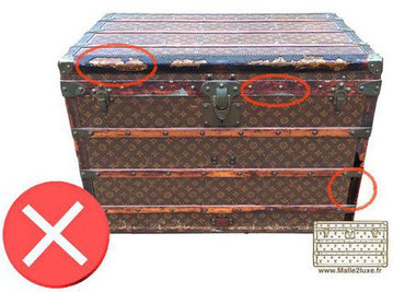 old leather vuitton trunk Louis French