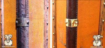 Louis vuitton trunk restored leather trunk