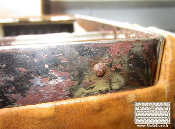 Rusted oxidized louis vuitton trunk wardrobe
