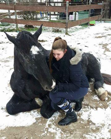 Kurti und Melissa im Schnee
