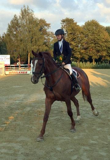 Daniela Hocke schaffte es mit Anna Carina bei den Junioren aufs Treppchen