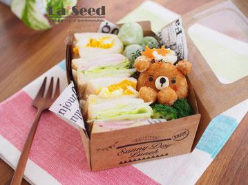 サンドイッチ弁当(コロッケくまちゃん)