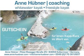 Verschenke Kajakkurse mit Anne Huebner!