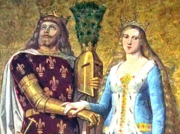 Markgraf Friedrich III. von Meißen, der Strenge, mit seiner  Ehefrau Katharina von Henneberg