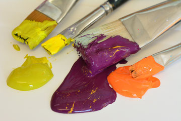 Pinsel zum malen, Acrylmalpinsel, Pinsel für Acrylmalerei, Flachpinsel.